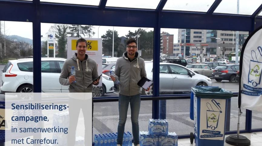 spadel en carrefour - sampling